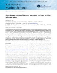 Quantifying the tradeoff between precaution and yield in fishery ...