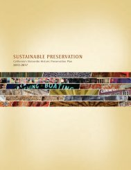 California's Statewide Historic Preservation Plan, 2013-2017