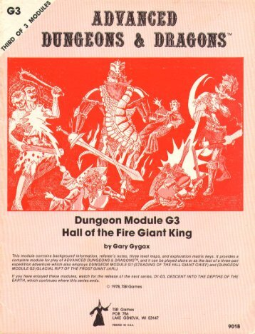 G3 Hall of the Fire Giant King - Free