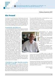 Brief an die Freunde 2007 - Université de Fribourg