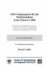 Eignungstest - Université de Fribourg