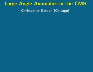 Large Angle Anomalies in the CMB