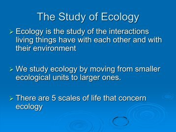 Populations and Communities in Ecology - MDC Faculty Home Pages