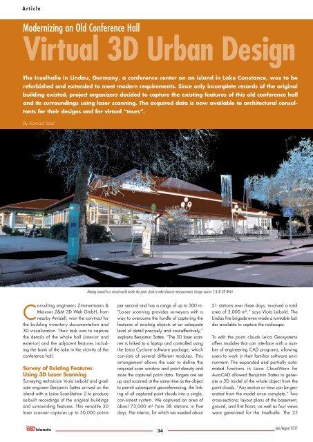 Virtual 3D Urban Design - HDS - Leica Geosystems