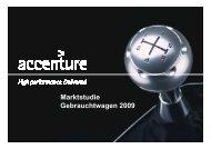 Marktstudie Gebrauchtwagen 2009 - Accenture