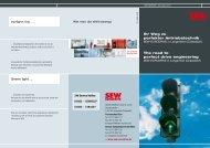 Ihr Weg zu perfekter Antriebstechnik The road to ... - SEW Eurodrive
