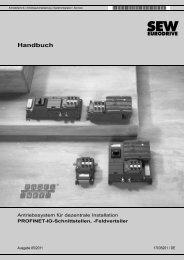PROFINET-IO-Schnittstellen, -Feldverteiler - SEW Eurodrive