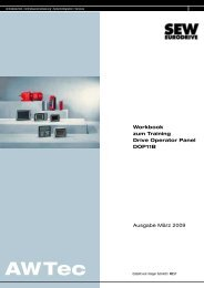 Workbook zum Training Drive Operator Panel ... - SEW Eurodrive