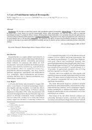 A Case of Penicillamine-induced Dermopathy - ANNALS Academy ...