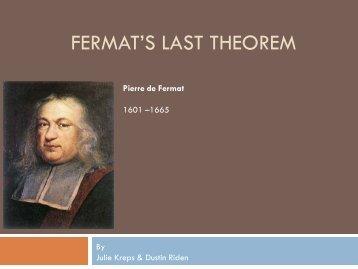 Fermat's Last Theorem - Ship
