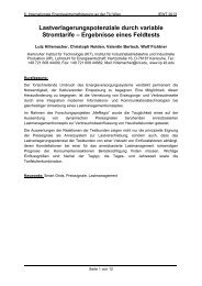 Lastverlagerungspotenziale durch variable Stromtarife ... - EEG