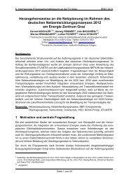 Herangehensweise an die Netzplanung im Rahmen des ... - EEG