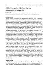 Cutting propagation of Leyland cypress - Lincoln U Research Archive