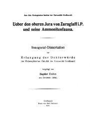Ueber den oberen Jura von Zarnglaff i.P. und seine Ammonitenfauna.