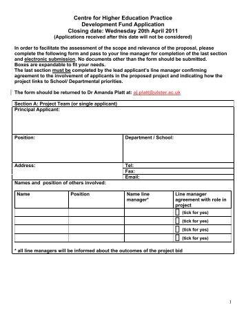 application form spring 2011