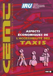 Aspects .conomiques de l'accessibilit. des taxis - International ...