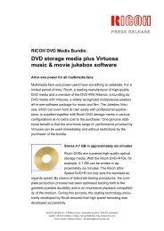 DVD storage media plus Virtuosa music & movie jukebox ... - VB