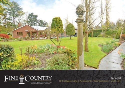Springhill 18 Fieldgate Lane   Kenilworth ... - Fine & Country