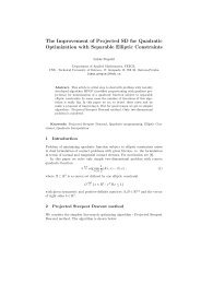 The Improvement of Projected SD for Quadratic ... - HomeL