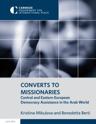 Converts to missionaries - Carnegie Endowment for International ...