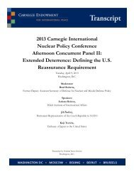 Extended Deterrence Transcript - Carnegie Endowment for ...