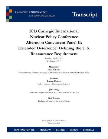 Extended Deterrence Transcript - Carnegie Endowment for ...