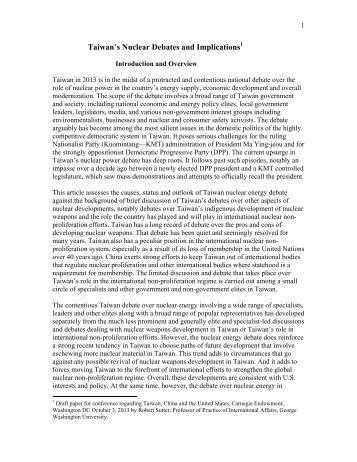 Sutter Paper - Carnegie Endowment for International Peace