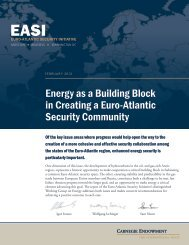 Energy as a Building Block in Creating a Euro-Atlantic Security ...
