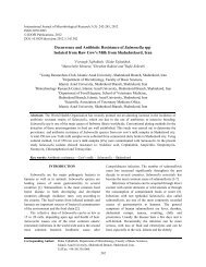 Occurrence and Antibiotic Resistance of Salmonella spp ... - Idosi.org