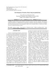 On Estimation of Sensitive Mean Using Scrambled Data - Idosi.org