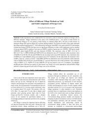 Effect of Different Tillage Methods on Yield and Yield ... - Idosi.org