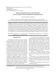 Model of Competitiveness of Eco-Tourism Product (By the ... - Idosi.org