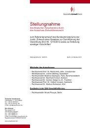 Stellungnahme Nr.: 46/2013 - Deutscher Anwaltverein
