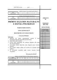 PRÓBNY EGZAMIN MATURALNY Z JEZYKA POLSKIEGO - Gazeta.pl