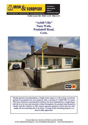 """Achill Ville"" Nuns Walk, Pouladuff Road, Cork. - MyHome.ie"