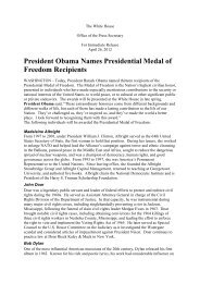 President Obama Names Presidential Medal of Freedom ... - Gazeta.pl