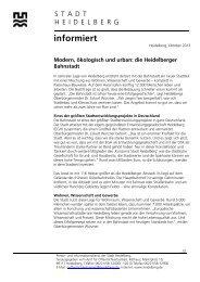 Themendienst Bahnstadt - Stadt Heidelberg