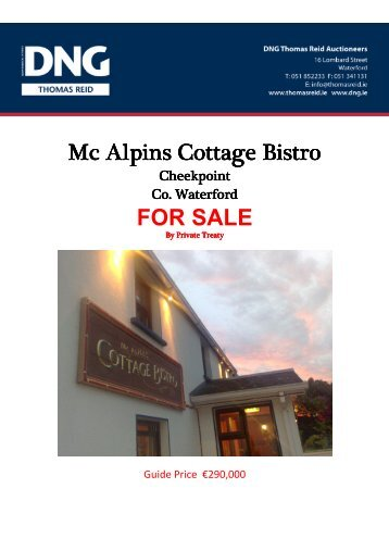 Mc Alpins Cottage Bistro, Cheekpoint, Co. Waterford - MyHome.ie