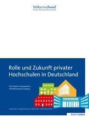 Rolle und Zukunft privater Hochschulen in Deutschland (pdf)