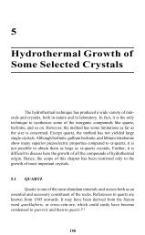 5 Hydrothermal Growth of Some Selected Crystals