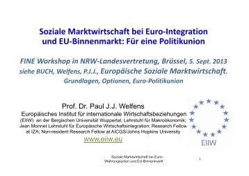 EU-Binnenmarkt - EIIW