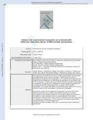 Design and experimental evaluation of a dynamically balanced ...
