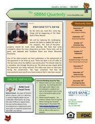 SBBM Quarterly www.thesbbm.com - Liberty Online