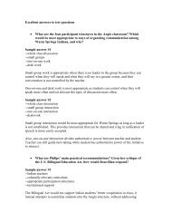 Excellent answers to test questions • What are ... - Classes at U. of L.
