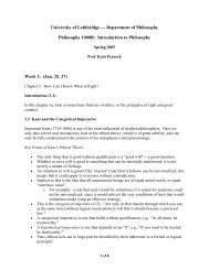 Chap. 4: How Can I Know What Is Right? - University of Lethbridge