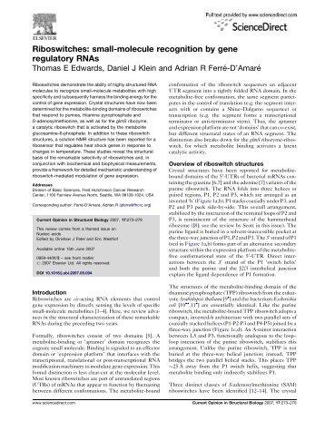 Edwards et al., Curr Opin Struct Biol 2007