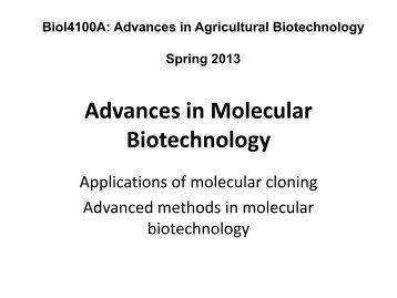 Advances in Molecular Biotechnology_2013.pdf - Classes at U. of L.