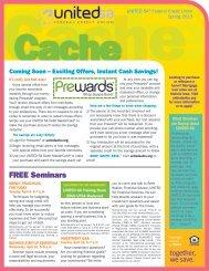 United SA FCU Cache newsletter - Liberty Online