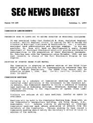 October 3, 1996 issue (dig100396.pdf) - Securities and Exchange ...