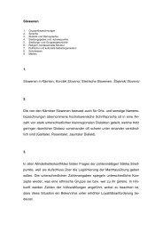 Slowenen 1. Slowenen in Kärnten, Koroški Slovenci ; Steirische ...